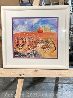 """Sun Bathing Cheetah"" by Betsey Fowler, Wild Kingdom"