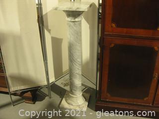 Impressive Marble Pedestal