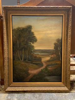 Canvas Framed Landscape Painting
