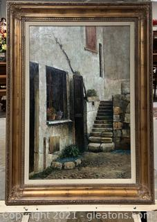Canvas Framed European Inspired Painting