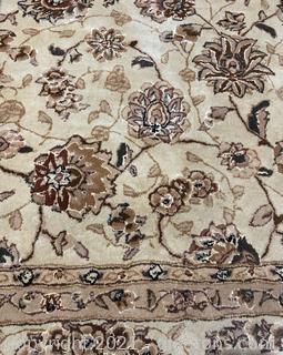 Floral Design Wool Area Rug