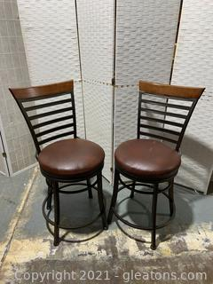 Set of 2 Hillsdale Swivel Counter Stools