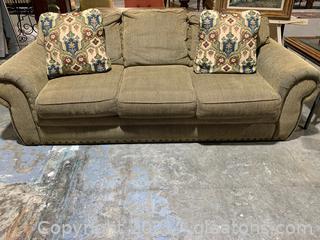 Comfortable 3 Cushion Sleeper Sofa