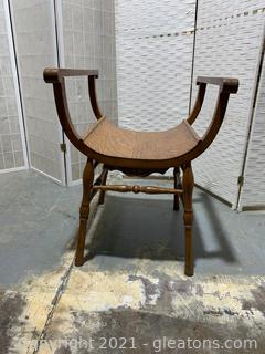 Indianapolis Chair MFG Co. Tiger Oak Bustle Chair