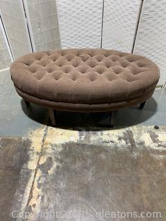 Tufted Oval Ottoman