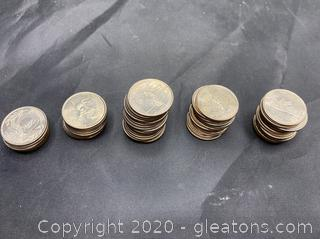 Collection of 1999 State Quarters