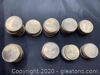 Collection of 2000 State Quarters
