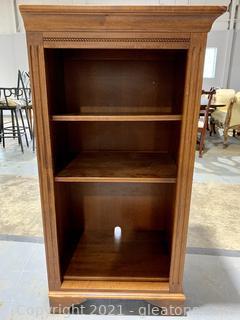 Traditional Short Ethan Allen Hardwood Bookshelf