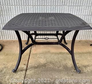 Cast Aluminum Patio Dining Table