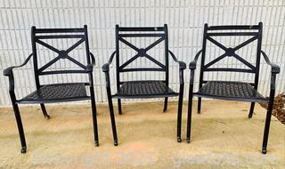 3 Cast Aluminum Patio Chairs