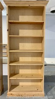 6 Shelf Natural Pine Bookshelf