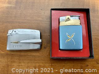 Vintage Ronson Lighters Set of 2
