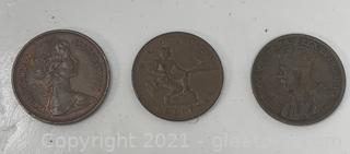 Various Copper Currency
