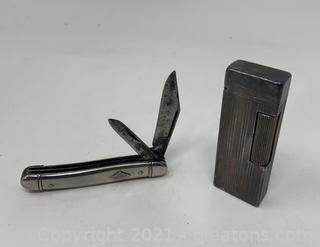 Dunhill Lighter and Imperial Pocket Knife