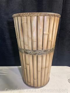 Tall Woven Cellar Basket