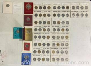 Vintage Gaming Tokens and Christmas Coins