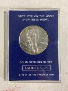 First Step on The Moon Eyewitness Medal