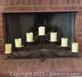 Trendy Metal Fireplace/Tabletop Candle Holders