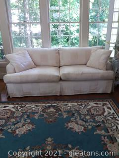 Gently Used Marge Carson Sofa Cream Patchwork Design