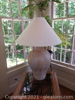 Nice Textured Oversized Table Lamp with Shade