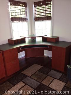 Large Corner Computer Desk (Matches B and C) Living Dimensions