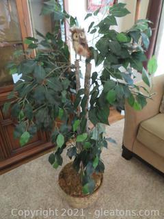 """51"""" Tall Faux Ficus in Ceramic Pot"""