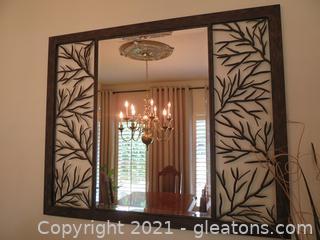 Intricate Iron, Beveled Mirror