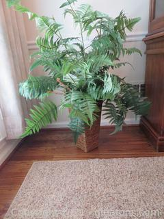 """42"""" Tall Faux Fern in Resin/Wicker Look Container"""