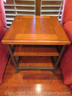 Charming Walnut and Iron and Table (B)