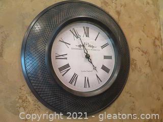 "Delightful ""Edinburgh Clock Works Company"" Wall Clock"