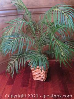 Artificial Palm in Square Wicker Planter