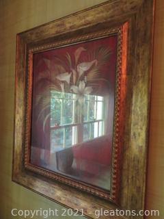 Elegant Cedar Creek Collection Framed Flowers