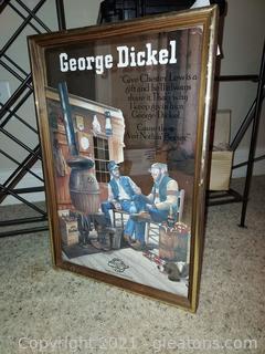 Nice George Dickel  Bar Mirror
