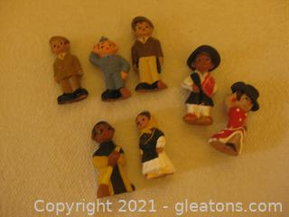 Eclectic Group of 2 Inch Clay Figures