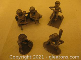 Miniature Group of Pewter Pieces