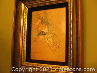 """Exquisitely Framed Print """"Madame Lucy"""" by Henri Toulouse-Lautrec"""