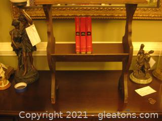 Small Antique Library Table (Books Not Included)
