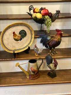 Chickens Galore : Large Lot of Chicken Decor (6 Items)