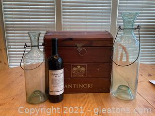 Artisan Wine Decor Lot- Lot of 4 Items
