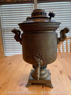 Brass Russian Samovar Tea Urn