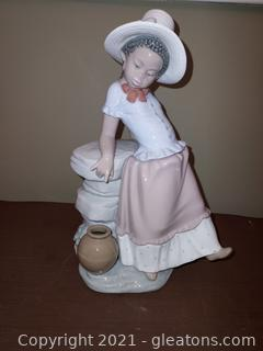 """Lladro Black Legacy # 5158 """"A Step in Time"""" No Box"""