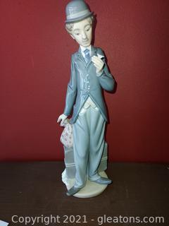 Lladro Charlie Chaplin # 5233 (Missing Cane)