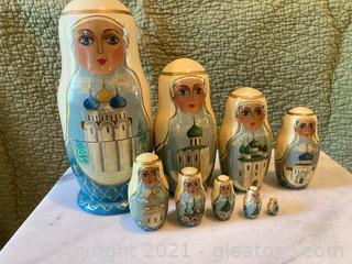 """""""The Golden Ring"""" Matryoshka Dolls-9  Dolls"""