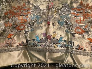 Exquisite Silk Asian Tapestry