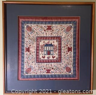 Matted and Framed Quilt Piece
