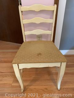 Dainty Desk Chair W/ Upholstered Seat