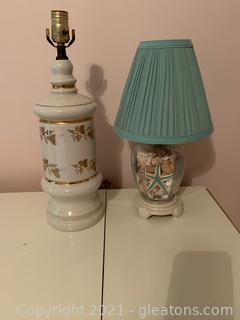 Lovely Table Top lamps (Lot of 2)