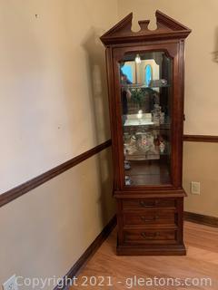 Hammary Lighted Curio Cabinet