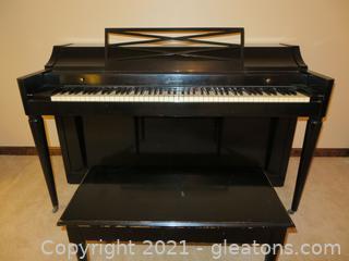 Black Baldwin Acrosonic Piano with Bench