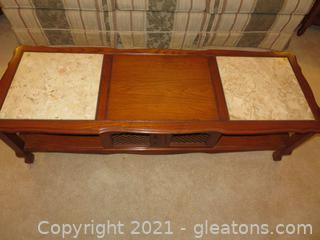 Attractive Marble Top Coffee Table